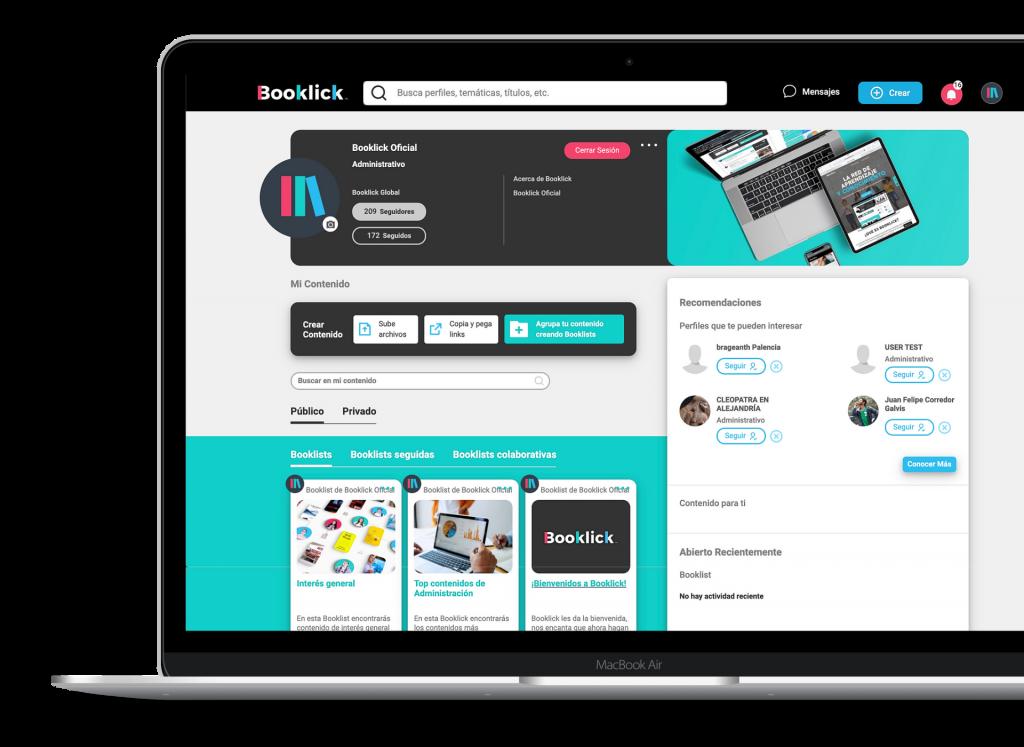 Booklick: Aumenta el uso de los recursos y consolida la biblioteca digital